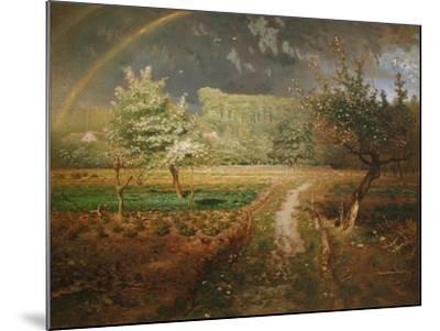Spring at Barbizon, 1868-73-Jean-Fran?ois Millet-Mounted Giclee Print