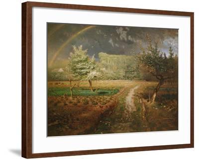 Spring at Barbizon, 1868-73-Jean-Fran?ois Millet-Framed Giclee Print
