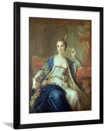 Portrait of Mademoiselle Marie Salle 1737-Louis-Michel van Loo-Framed Giclee Print