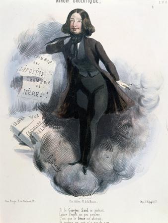 Caricature of George Sand circa 1848-Alcide Joseph Lorentz-Framed Giclee Print