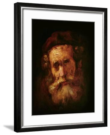 A Rabbi-Rembrandt van Rijn-Framed Giclee Print