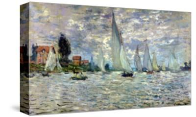 The Boats, or Regatta at Argenteuil, circa 1874-Claude Monet-Stretched Canvas Print