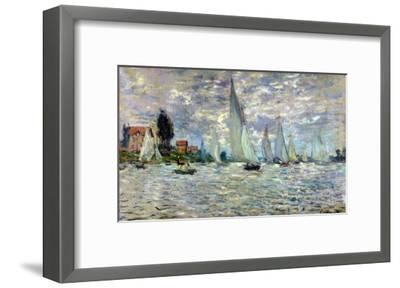 The Boats, or Regatta at Argenteuil, circa 1874-Claude Monet-Framed Giclee Print