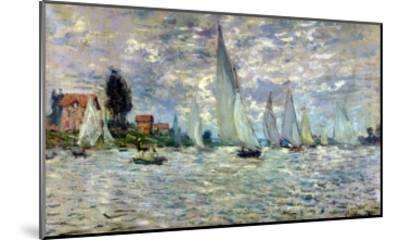 The Boats, or Regatta at Argenteuil, circa 1874-Claude Monet-Mounted Giclee Print