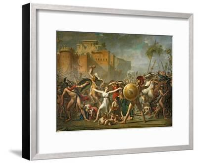 The Sabine Women, 1799-Jacques-Louis David-Framed Giclee Print