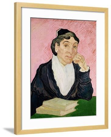 The Woman from Arles-Vincent van Gogh-Framed Giclee Print