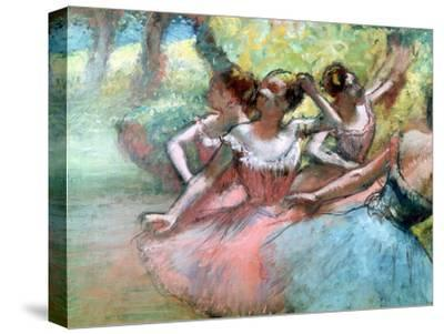 Four Ballerinas on the Stage-Edgar Degas-Stretched Canvas Print