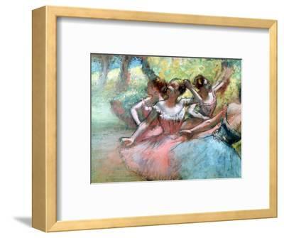 Four Ballerinas on the Stage-Edgar Degas-Framed Premium Giclee Print