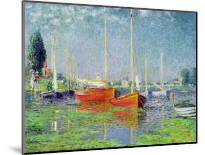 Argenteuil, circa 1872-5-Claude Monet-Mounted Premium Giclee Print