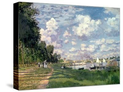 The Marina at Argenteuil, 1872-Claude Monet-Stretched Canvas Print