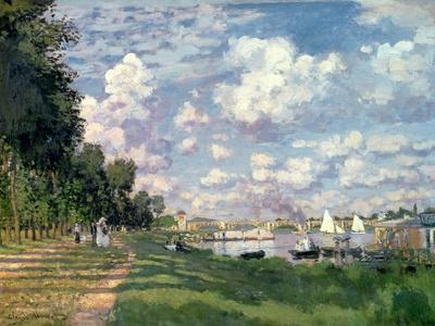 The Marina at Argenteuil, 1872-Claude Monet-Framed Premium Giclee Print