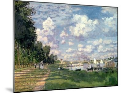 The Marina at Argenteuil, 1872-Claude Monet-Mounted Giclee Print