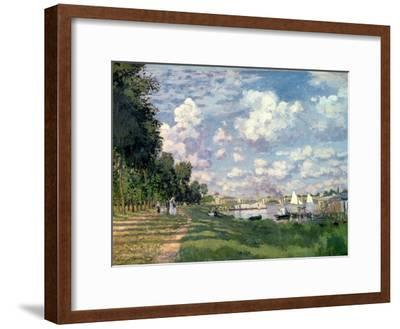 The Marina at Argenteuil, 1872-Claude Monet-Framed Giclee Print