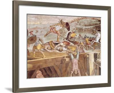 Horatius Cocles on the Sublician Bridge-Tommaso Laureti-Framed Giclee Print