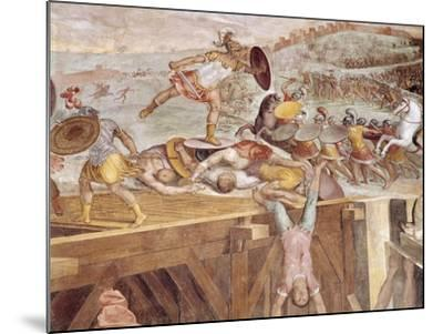 Horatius Cocles on the Sublician Bridge-Tommaso Laureti-Mounted Giclee Print