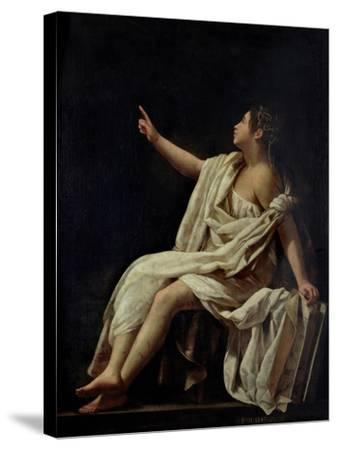 Polyhymnia, the Muse of Lyric Poetry, 1620-Giovanni Baglione-Stretched Canvas Print