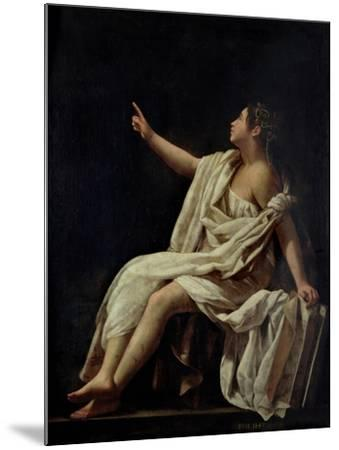 Polyhymnia, the Muse of Lyric Poetry, 1620-Giovanni Baglione-Mounted Giclee Print