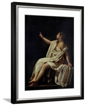 Polyhymnia, the Muse of Lyric Poetry, 1620-Giovanni Baglione-Framed Giclee Print