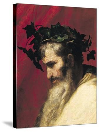 Head of an Old Man, Fragment from the Triumph of Bacchus-Jusepe de Ribera-Stretched Canvas Print
