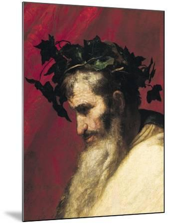 Head of an Old Man, Fragment from the Triumph of Bacchus-Jusepe de Ribera-Mounted Giclee Print