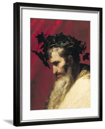 Head of an Old Man, Fragment from the Triumph of Bacchus-Jusepe de Ribera-Framed Giclee Print