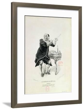 "Dr Bartolo, from the Opera ""The Barber of Seville"" by Rossini-Emile Antoine Bayard-Framed Giclee Print"