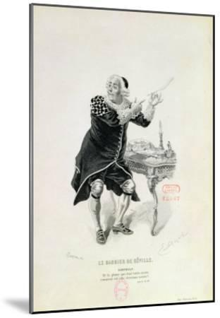 """Dr Bartolo, from the Opera """"The Barber of Seville"""" by Rossini-Emile Antoine Bayard-Mounted Giclee Print"""