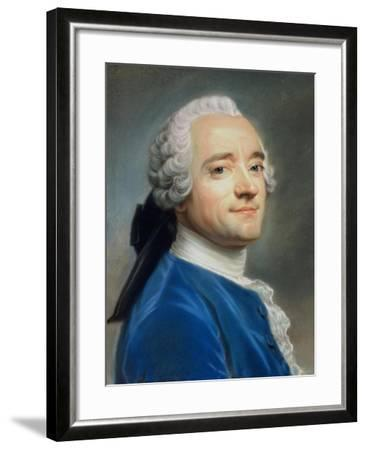 Self Portrait with Lace Jabot-Maurice Quentin de La Tour-Framed Giclee Print