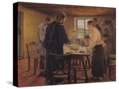 Christ with the Peasants, circa 1887-88-Fritz von Uhde-Stretched Canvas Print