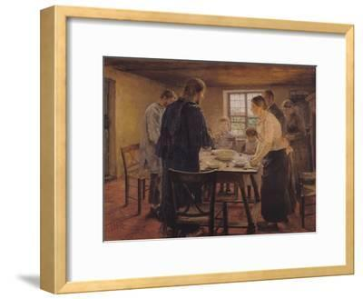 Christ with the Peasants, circa 1887-88-Fritz von Uhde-Framed Giclee Print