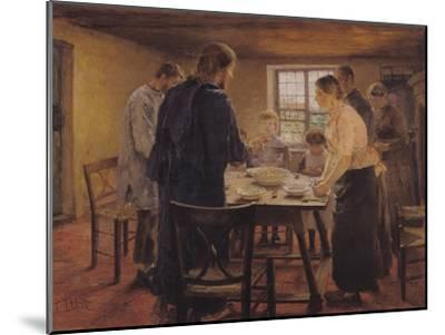 Christ with the Peasants, circa 1887-88-Fritz von Uhde-Mounted Giclee Print