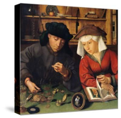 The Money Lender and His Wife, 1514-Quentin Metsys-Stretched Canvas Print