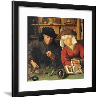 The Money Lender and His Wife, 1514-Quentin Metsys-Framed Giclee Print