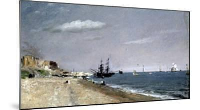 Brighton Beach with Colliers-John Constable-Mounted Giclee Print