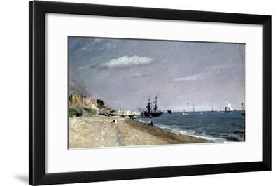 Brighton Beach with Colliers-John Constable-Framed Giclee Print