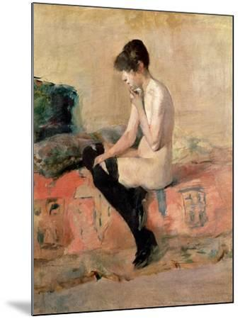 Nude Woman Seated on a Divan, 1881-Henri de Toulouse-Lautrec-Mounted Giclee Print