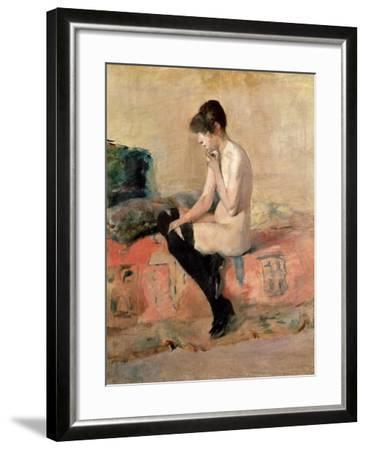 Nude Woman Seated on a Divan, 1881-Henri de Toulouse-Lautrec-Framed Giclee Print