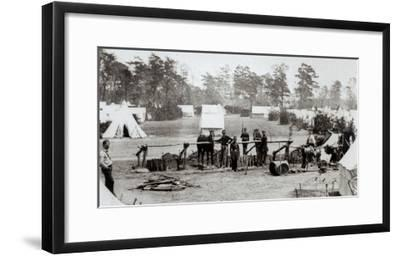Yankee Headquarters, Camp Whinfield, 3rd May 1862-Mathew Brady-Framed Giclee Print