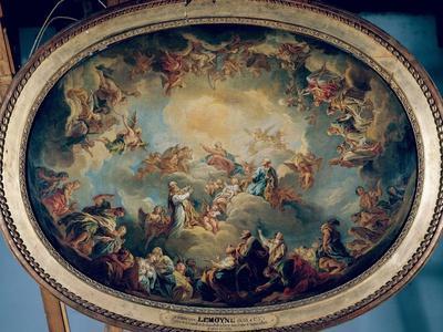The Glorification of the Virgin, 1731-Francois Lemoyne-Framed Giclee Print