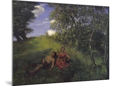 Siesta, 1889-Hans Thoma-Mounted Giclee Print