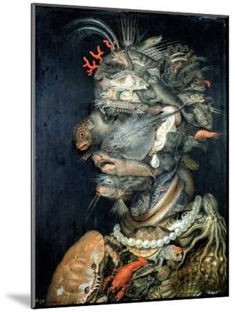Water-Giuseppe Arcimboldo-Mounted Giclee Print