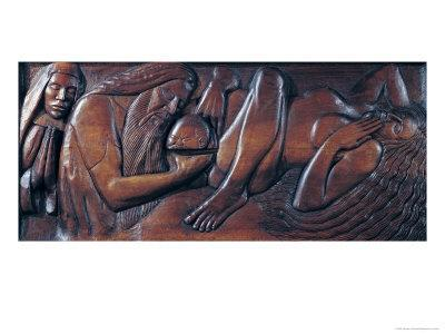 Birth, Wooden Bed Panel, 1894-96-Georges Lacombe-Framed Giclee Print