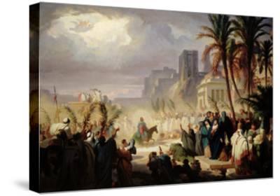 The Entry of Christ into Jerusalem-Louis Felix Leullier-Stretched Canvas Print