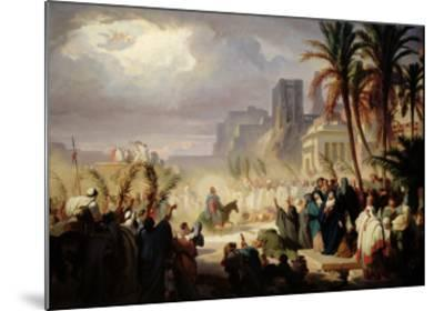 The Entry of Christ into Jerusalem-Louis Felix Leullier-Mounted Giclee Print