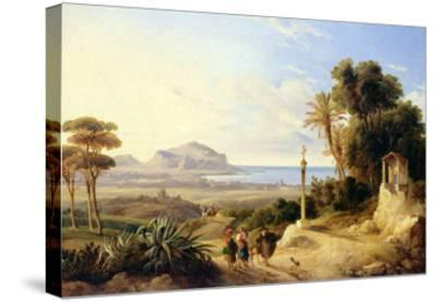 View of Palermo, 1840-Consalvo Carelli-Stretched Canvas Print