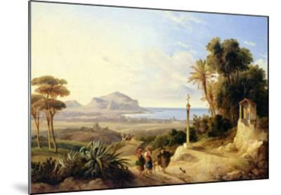 View of Palermo, 1840-Consalvo Carelli-Mounted Giclee Print