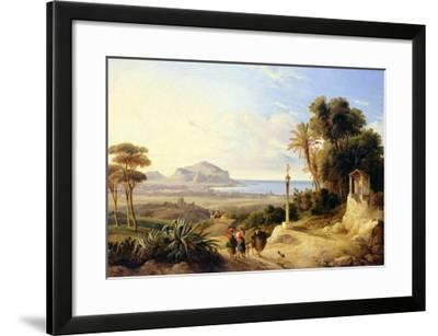 View of Palermo, 1840-Consalvo Carelli-Framed Giclee Print
