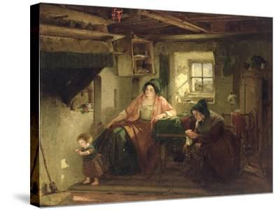 The Ray of Sunlight, 1857-Thomas Faed-Stretched Canvas Print