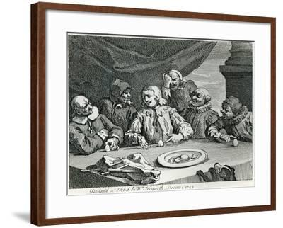 Columbus Breaking the Egg, 1753-William Hogarth-Framed Giclee Print