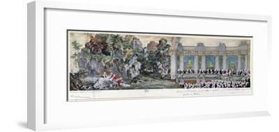 Jeanne Antoinette Poisson, Marquise de Pompadour and the Vicomte de Rohan, 1749-Charles-Nicolas Cochin II-Framed Giclee Print